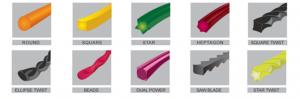 Корд различных сечений для триммера